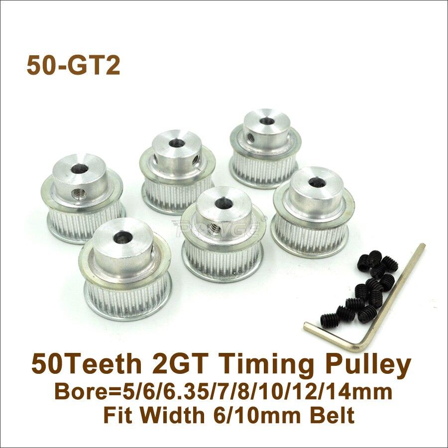 14mm 10mm 60 Teeth 12 6.35 6 Belt Width 6 8 Bore 5 GT2 Pulley 10