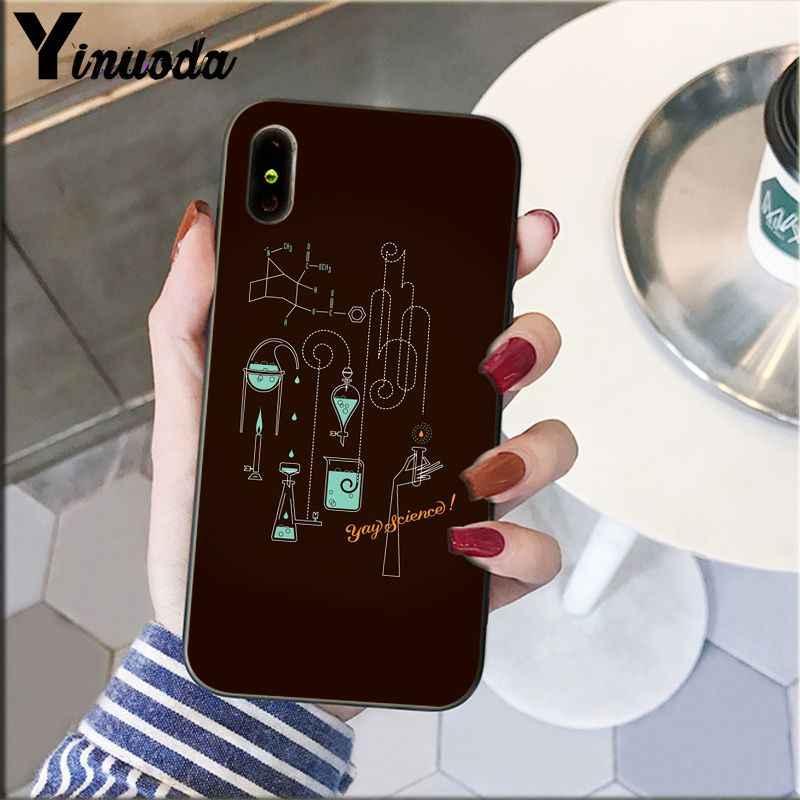 Yinuoda ชีววิทยาและเคมี DIY Luxury High-end Protector กรณีสำหรับ iphone ของ Apple iphone 8 7 6 6S Plus X XS MAX 5 5S SE XR โทรศัพท์มือถือ