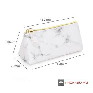 Image 4 - PU Leather Cosmetic Bag Make Up Marble Portable Ladies Travel Case Makeup Brush Organizer Storage Pouch Culture Wash Kit Bags