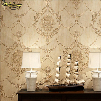 beibehang European style wallpaper Pastoral bedroom Non-woven wallpaper 3d TV background Wallpaper Living room papel de parede papel de parede simple striped non woven wallpaper 3d solid suede bedroom living room hotel tv background wall modern wallpaper