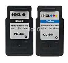 2 pcsCompatible tintenpatrone PG440 CL441 PG440XL CL441XL für MX374 MX394 MX434 MX454 MX474 MX514 MX524 MX534 MG214 MG2240 MG3120