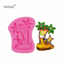Gadgets- Turtle Silicone mold, coconut tree palm heart, phone shell accessories candle mold