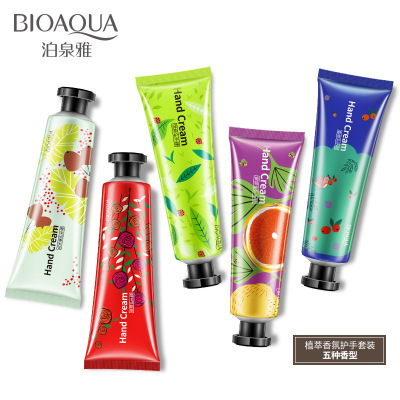 HOT 2018 Bioaqua Planting Fragrance Moisturizing Hand Cream Hand Cream Prevent Drying and Exfoliating Hand Care miracle steam hand cream lovely touch объем 45 г