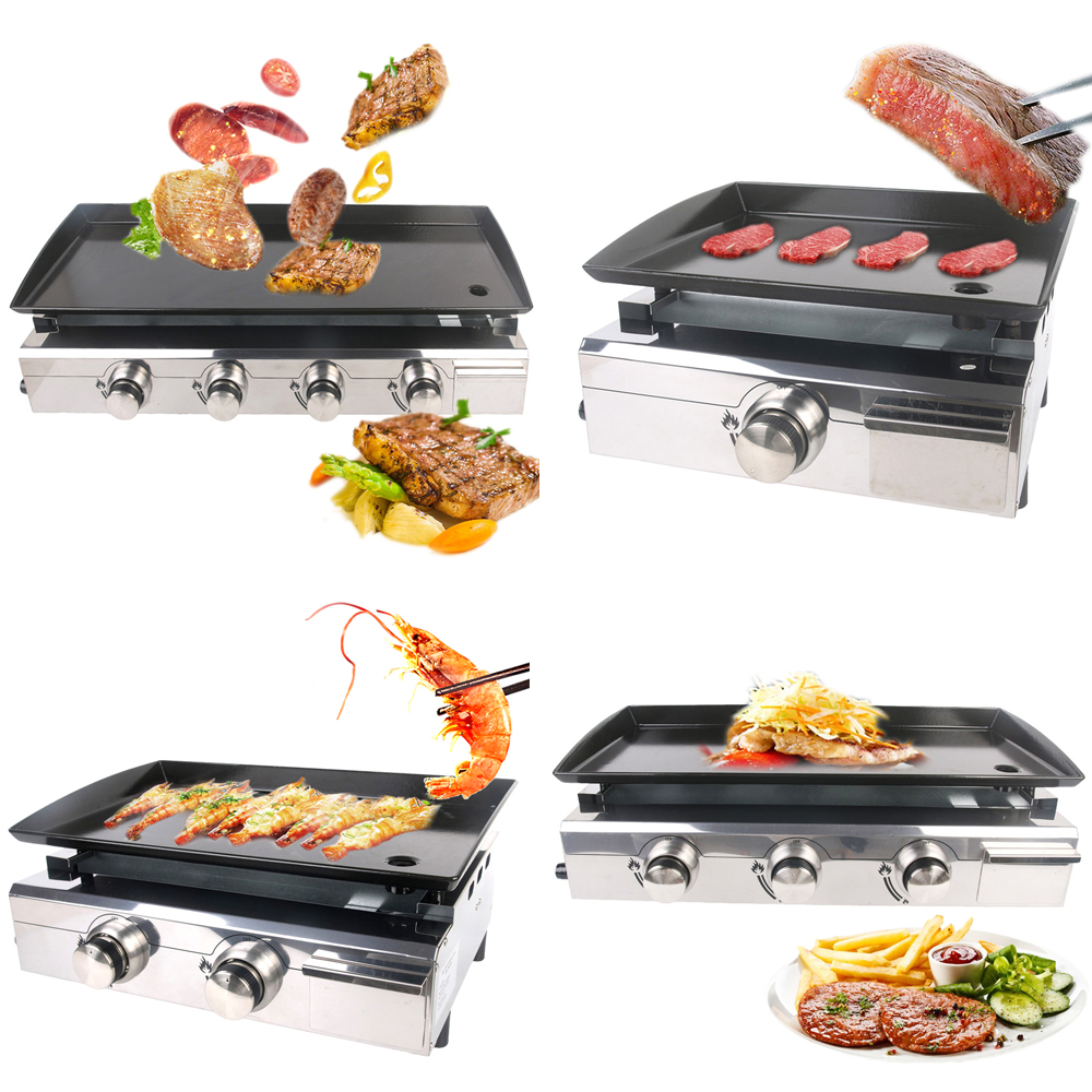 LPG Grill Household Garden Party Fun Stainless Steel Adjustable Easy Cleaner Commercial Barbecue Grill Pan Teppanyaki
