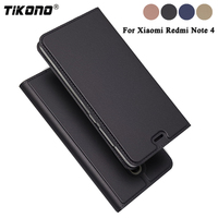 TIKONO For Xiaomi Redmi Note 4 Case Redmi Note 4X Cover Flip Stand Leather Case For