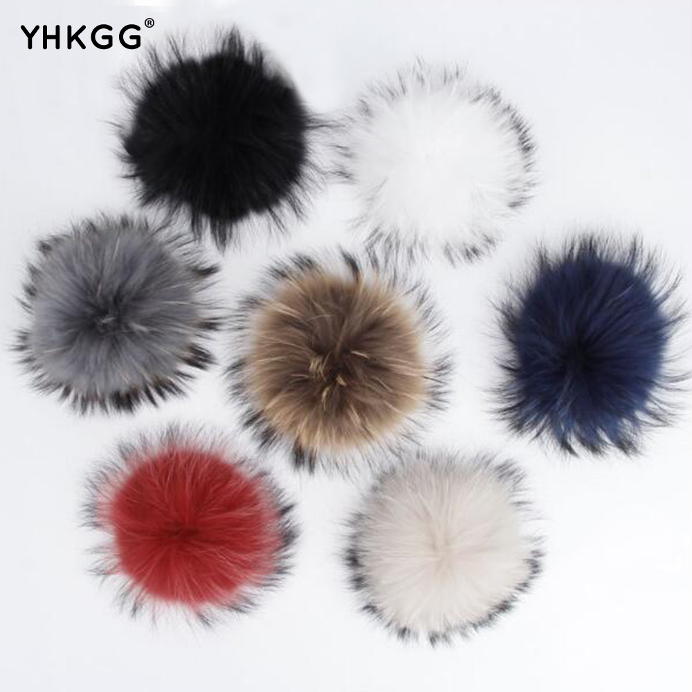 Real raccoon fur pom poms real fur hat in winter hats for women&kintted hat & fur cap&children accessories corporate real estate management in tanzania
