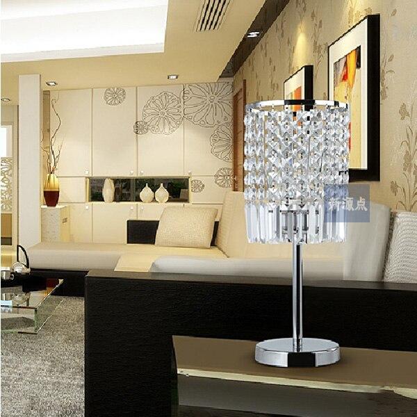 Современные k9 кристалл настольная лампа спальня гостиная ночники
