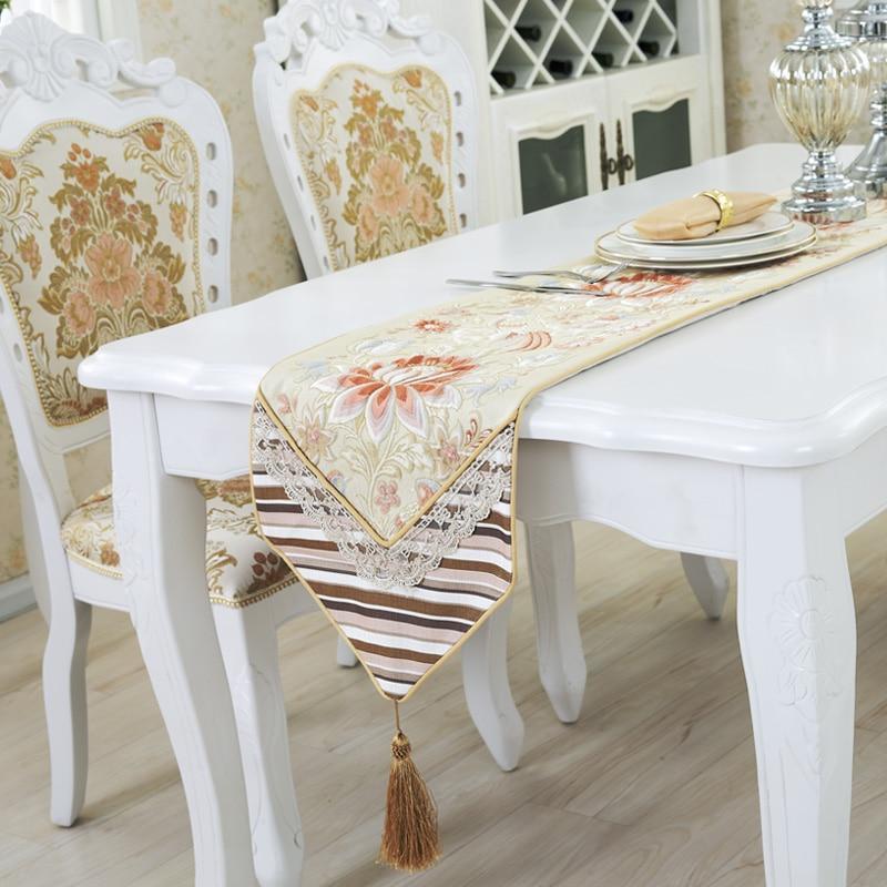 alto grado de decoracin de mesa en casa nrdicos elegantes flores de lujo jacquard bordado mantel