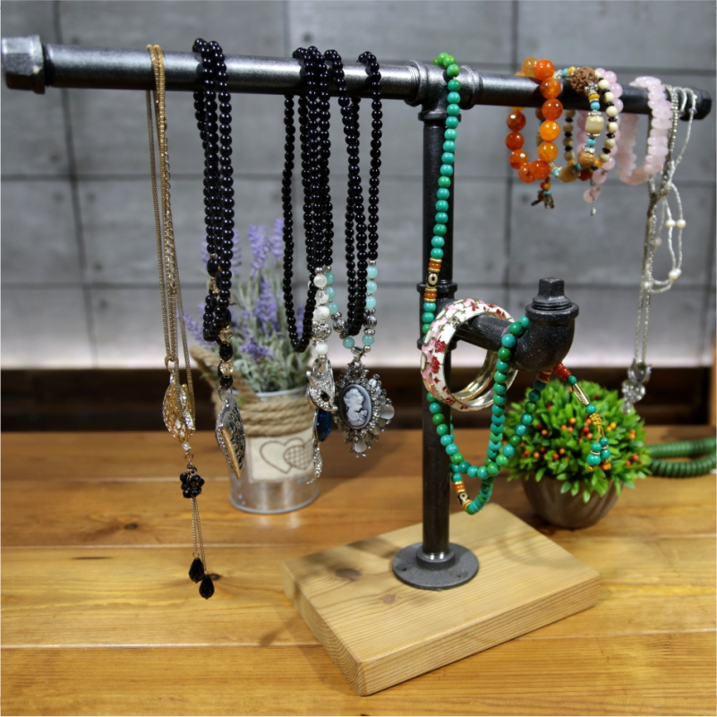 1PC Hot Sale T-Bar Jewelry Display Stand Shelf  Jewelry Rack Organizer Storage Holder for Bracelet Necklace FJ-ZN2Y-017A0 aluminum plastic board eyeglass sunglasses display holder rack stand for 52pairs each distance 0 5cm total height 940mm 1pc lot
