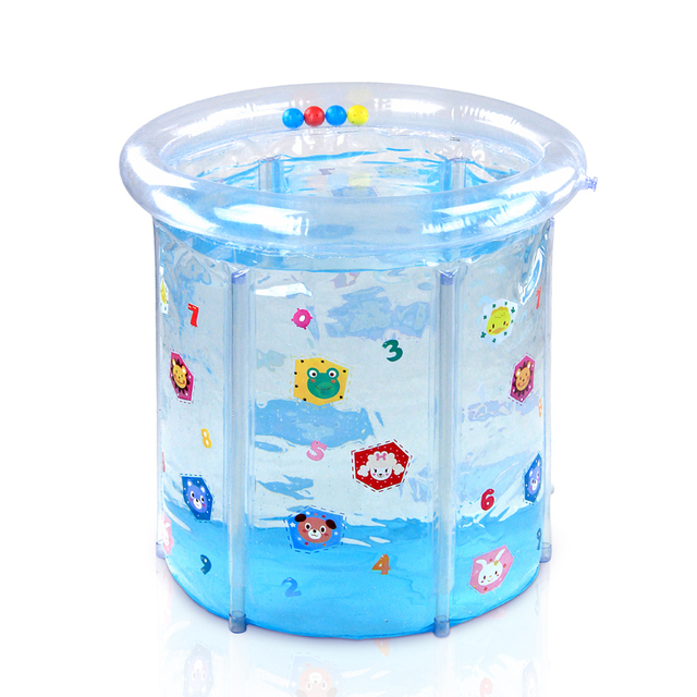 Baby transparent colored drawing pvc mount swimming pool baby swimming pool infant inflatable