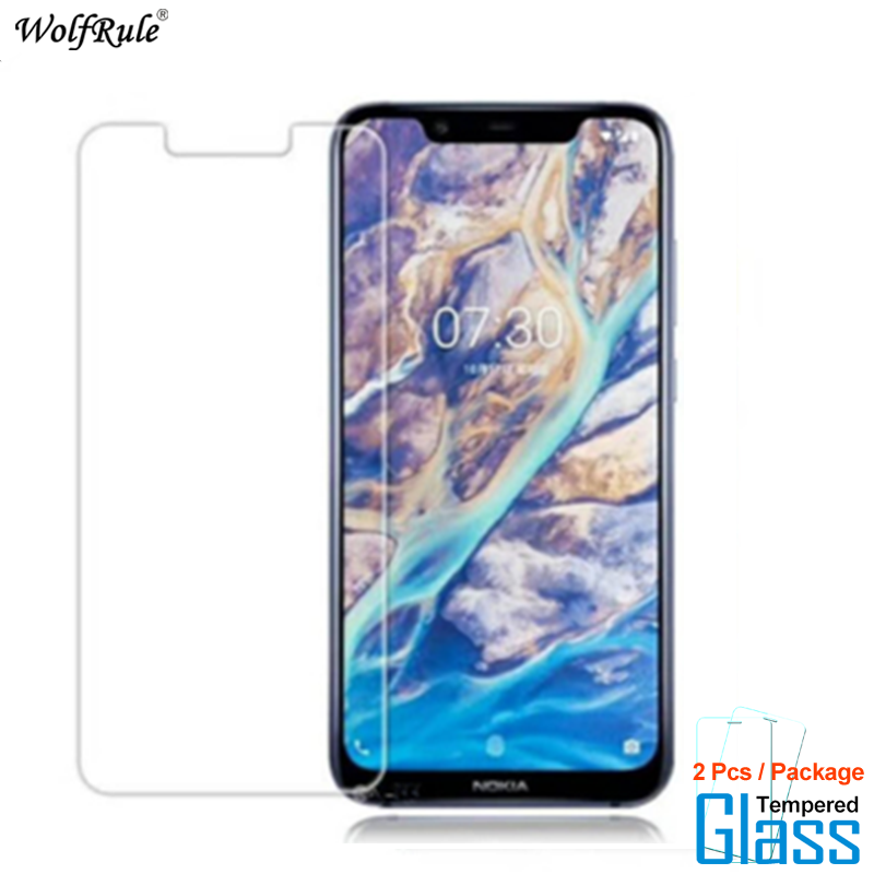 2Pcs For Glass Nokia 8.1 Screen Protector Tempered Glass For Nokia 8.1 Glass Protective Phone Film For Nokia X7 2018
