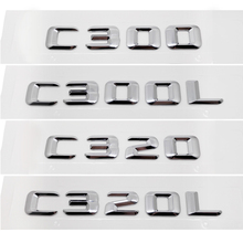C300 C300L C320 C320L Car Emblem Rear Number Letter sticker for Mercedes Benz C Class 190E W201 W202 W203 W204 W205 W211 W210 недорого