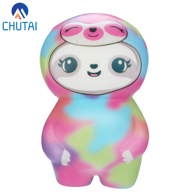 2019 New Kawaii Soft Sloth Slow Rising Squishy Cream Fruit Scented Squeeze Toys Baby Kids Grownups Stress Relief Toy 11x8x5 CM