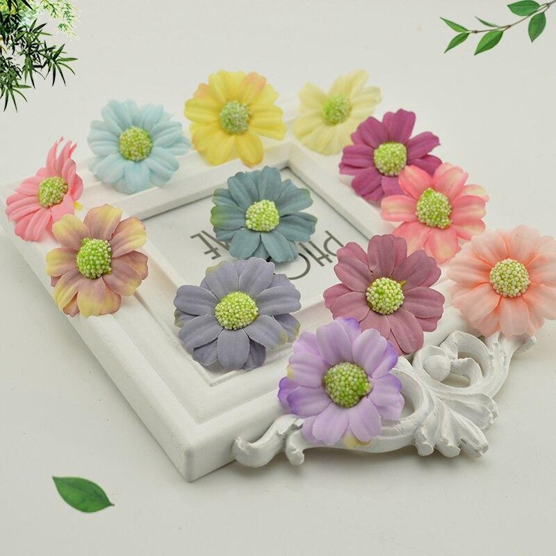 10pcs Silk Daisy Sunflower Artificial Flowers Head Wedding