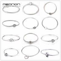 Memnon 925 ювелирные изделия из стерлингового серебра много видов браслетов для женщин подходящие амулеты бусины ручная работа серебро змея це...