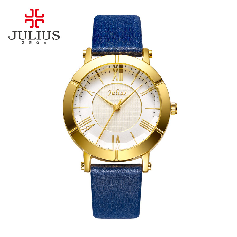 Luxury Rose Gold Antique Square Leather Dress Wrist Watch 2017 JULIUS Quartz Brand Lady Watches Women Relogio Feminino Montre