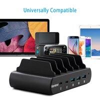 Kamera 110 w 2 USB C tipo c 3 usb a qc 3.0 estação universal da doca do carregador do portátil para o notebook macbook iphone 5 v 9 v 12 v 20 v lvsun Carregadores Eletrônicos -