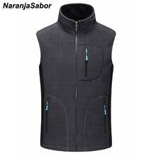 NaranjaSabor для мужчин's осень зима флис Softshell вязаные жилеты для женщин теплый жилет мужчин s повседневное Верхняя одежда без рукавов куртк