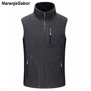 Image 1 - NaranjaSabor gilet chaud homme, vêtement décontracté sans manches en polaire, vêtements de marque