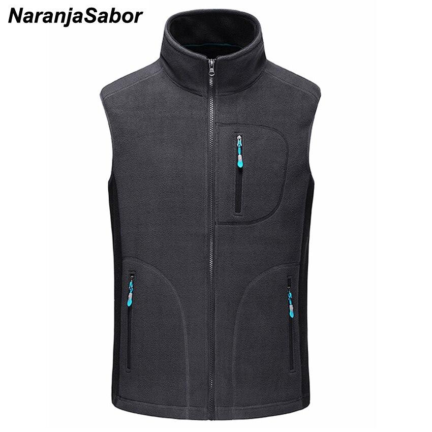 NaranjaSabor hommes automne hiver polaire Softshell gilets chaud gilet décontracté vêtements sans manches veste homme marque vêtements