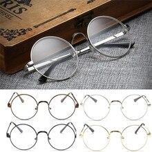 2017 Vintage Oval Lunettes vue Homme Femme Plain Glass Clear Full-Rim Lunettes de vue MAR16_15