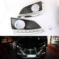 DRL Para Hyundai IX35 2010 2011 2012 2013 tampa da lâmpada de nevoeiro Luzes Diurnas farol 12 V carro Luz do Dia-styling