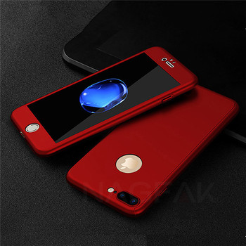 iPhone 8 Plus Case Red 360 All around Protective Cover Thin Slim Fit
