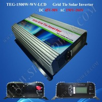 Micro Solar Power Inverter 1500w Pv Grid Tie Inverter Dc 48v To Ac 220v With Lcd