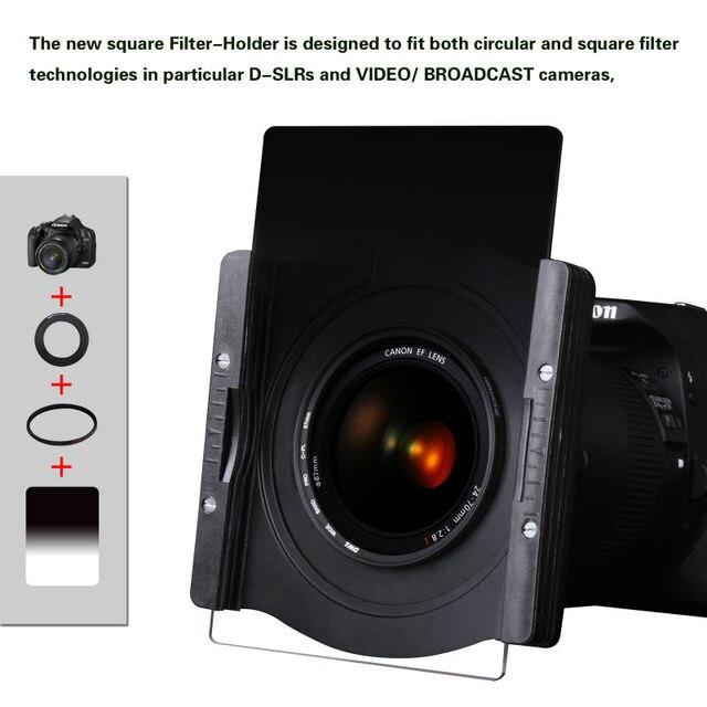ZOMEI filtro Cuadrado soporte holder + 67/72/77/82/86/95mm anillo adaptador para Cokin Z Lee 100*100mm 100*150mm filtro