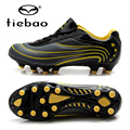 TIEBAO Professional AG Soles Football Shoes Men Athletic Training Sneakers Soccer Cleats Black Shoes Chuteira Futebol