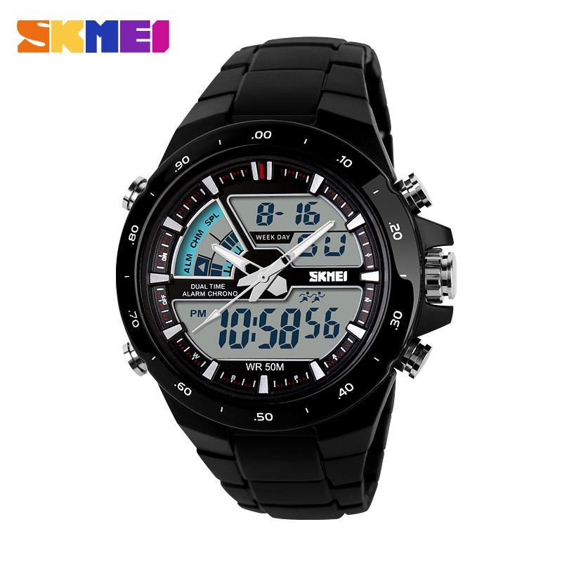 Prix pour SKMEI Quartz-Montres Hommes Sport Montres Homme Horloge 5ATM Mode Numérique-Montre Militaire Multifonctionnel Montre-Bracelet Montre Homme