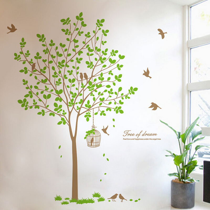 Free Shipping 167*180cm Self Adhesive Vinyl 3d Giant Family Tree Wall  Stickers Home