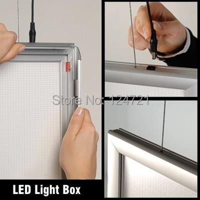 Алюминий профиль плакат рамки светодиод LightBox, настенное крепление led super slim light box A1, реклама знак поле