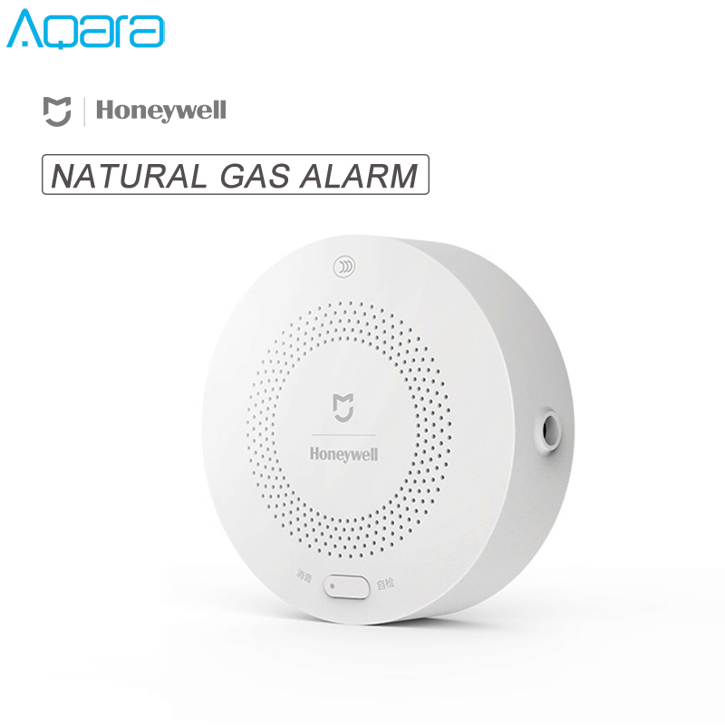 Original aqara honeywell casa inteligente detector de alarme gás natural aqara zigbee ch4 controle remoto monitor segurança para mi casa