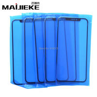 10PCS MAIJIEKE for iPhone X Front Screen Outer Glass Lens Replacement touch Panel Glass Repair Parts Support Face Recognition
