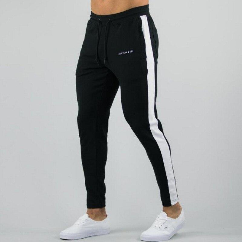 Alphalete Mens Joggers Casual Pants Fitness Men Sportswear Tracksuit Bottoms Skinny Sweatpants Trousers Gyms Jogger Track Pants