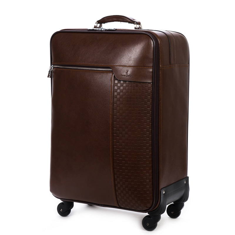 Genuine leather luggage 18/20/22/24/26 inch Travel suitcase ...