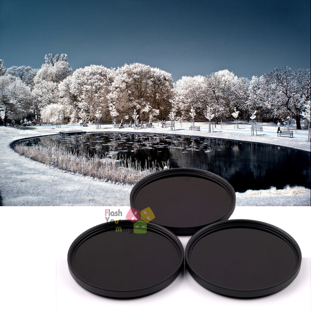 46mm 720nm+760nm+1000nm Infrared IR Optical Grade Filter for Canon Nikon Fuji Pentax Sony Camera Lenses