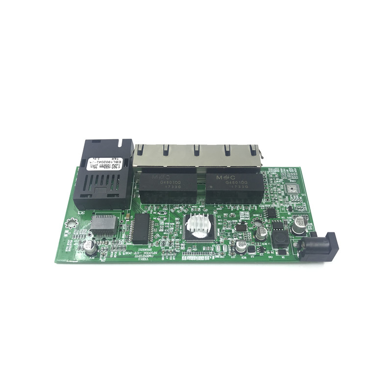 Image 2 - 10/100/1000M Gigabit Ethernet switch Optical Media Converter Single Mode 4 RJ45 UTP and 1 SFP fiber Port Board PCB motherboard-in Network Switches from Computer & Office