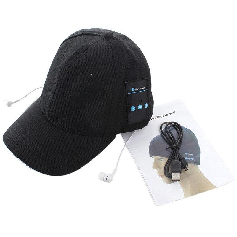 New Wireless Sport Bluetooth Music Hat Cap Speaker Headset Headphone Earphones Mic #80661 sport bluetooth music hat cap handsfree headset headphone built in speaker mic