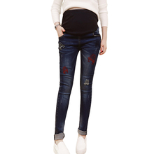 Will fall outside the cowboy trousers of pregnant women wear font b maternity b font font