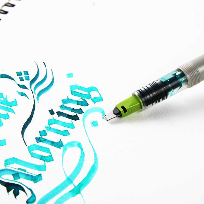 Liner ปากกาภาษาอังกฤษการประดิษฐ์ตัวอักษรการ์ตูน Gradient แปรงแบบขนานชุดปากกา 1.5 มม.2.4 มม.3.8 มม.6 มม. โบนัสหมึก