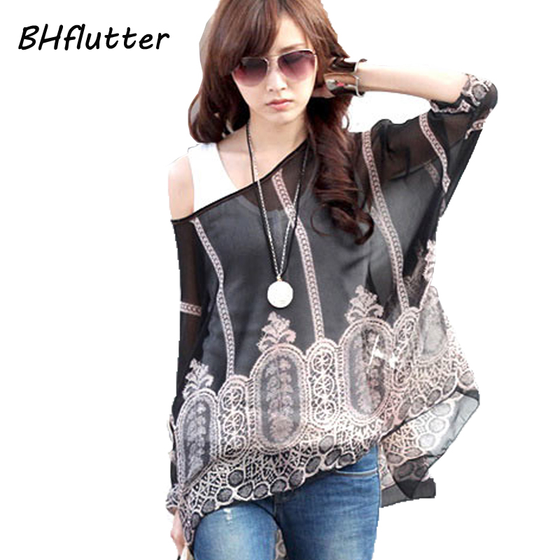 2018 New Fashion Women Casual Chiffon   Blouses     Shirts   Plus Size 4XL 5XL 6XL O neck Women's Vintage Print Tops Blusas Femininas