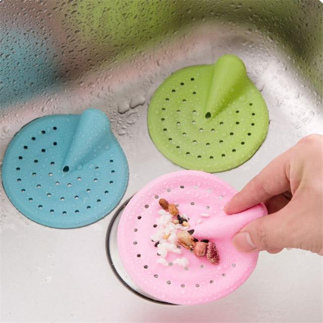 Bathroom Shower Drain Hair Catcher Stopper Kitchen Bathtub Floor Sink  Strainer Filter Cover Rubber Trap Outfall