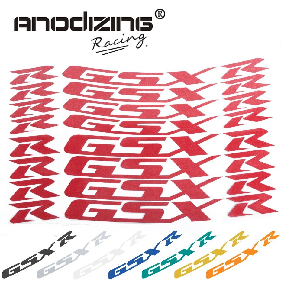 Für Suzuki Gsxr 1000 Gsxr 750 Gsxr750/1000 Motorrad Vorne Und Hinten Rad Aufkleber Reflektierende Felgenband Reifen Decals Harmonische Farben Motorrad-zubehör