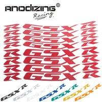 For SUZUKI GSXR 1000 GSXR 750 GSXR750/1000 Motorcycle Front & Rear Wheel Stickers Reflective Rim Tape Tire Decals