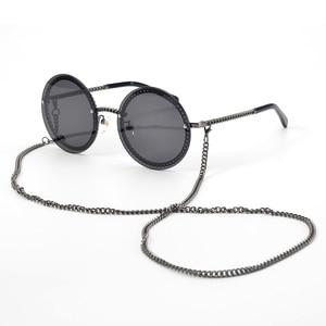 Image 1 - Fashion Women Rimless Sunglasse 2020Luxury Brand Designer Round Sunglasses Oculos De Sol Feminino with Original Packing Box