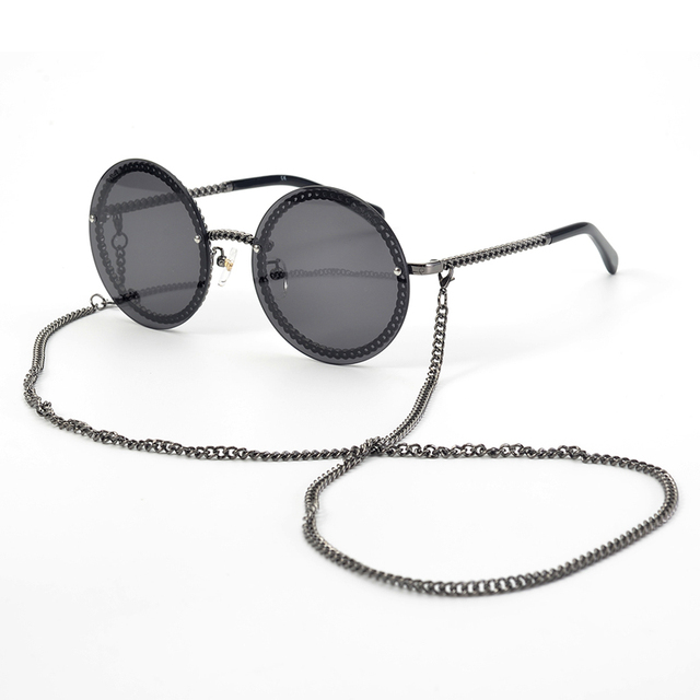 Fashion Women Rimless Sunglasse 2020Luxury Brand Designer Round Sunglasses Oculos De Sol Feminino with Original Packing Box