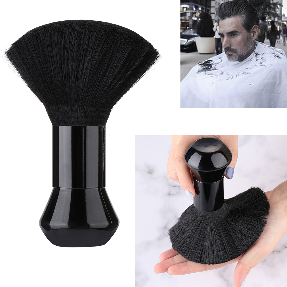 1PC Soft Black Neck Face Duster Beard Brushes Barber Hair Cleaning Hairbrush Salon Cutting Hairdressing Styling Makeup Tools