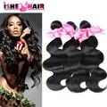 Малайзии девы волос 3 связки 100% человеческих волос Ishe волос малайзии объемная волна необработанные малайзии девы волос